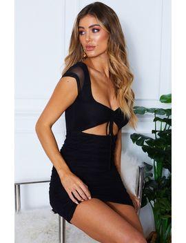 Need You Now Mini Dress Black by White Fox