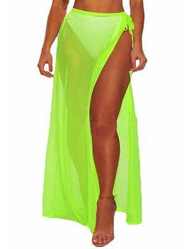 Bulawoo Women's Bikini Sarong Sexy Swimwear Cover Up Sheer Wrap Maxi Beach Skirt by Bulawoo