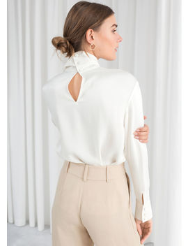 Satin Turtleneck Blouse by & Other Stories