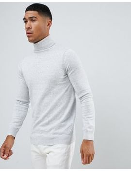 River Island Slim Fit Roll Neck In Gray by River Island