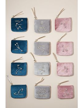 Zodiac Jewelled Velvet Pouch by Anthropologie