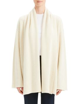 Oversize Ribbed Cashmere Cardigan by Theory
