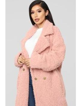 Winter In Downtown Jacket   Mauve by Fashion Nova