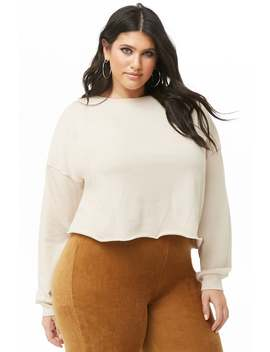 Plus Size Cropped Sweatshirt by Forever 21