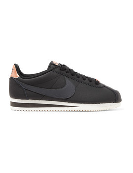 Classic Cortez Textured Leather Sneakers by Nike