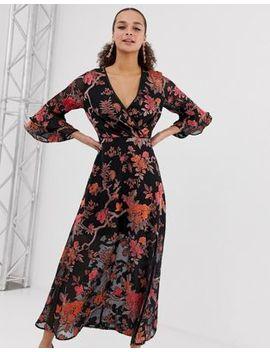 Miss Selfridge Maxi Dress In Floral Print by Miss Selfridge