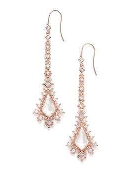 Reimer Statement Earrings In Rose Gold by Kendra Scott
