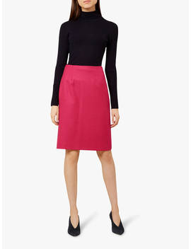 Hobbs Lacey Pencil Skirt, Hot Pink by Hobbs