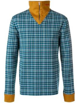 Checked Full Neck Jumper by Calvin Klein 205 W39nyc