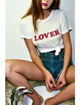 Lover Letter Print Short Sleeve T Shirt by Lupsona