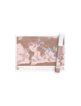 Luckies Of London World Map,  Scratch Map, Rose Gold by Luckies Of London