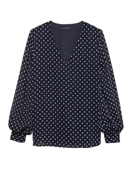 Polka Dot High Low Top by Banana Repbulic