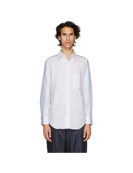 Chemise Blanche Et Bleue Bicolor by Thom Browne