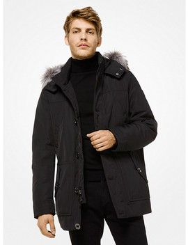 Faux Fur Trimmed Parka by Michael Kors Mens