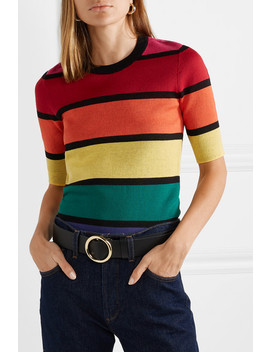 Bain Cropped Striped Cotton Top by Staud
