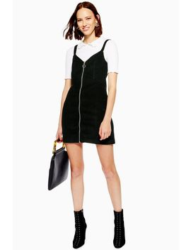 Tall Corduroy Zip Up Dress by Topshop