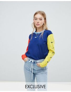 Nike   Exclusivité Asos   Lot De T Shirts Color Block à Manches Longues Et  Avec Logo Virgule by Nike