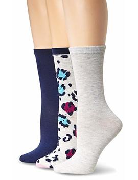 Betsey Johnson Women's Three Pack Party Animal Crew Socks by Betsey+Johnson