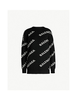 Logo Intarsia Knitted Jumper by Balenciaga