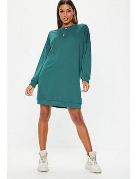 Tall Forest Green Oversized Plain Sweater Dress by Missguided