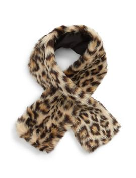 Leopard Faux Fur Scarf by Crewcuts By J.Crew