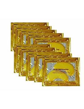 24 K Gold Powder Gel Collagen Eye Masks Sheet Patch, Anti Aging,Remove Bags,Dark Circles &Puffiness,Anti Wrinkle,Moisturising,Hydrating,Uplifting Whitening,Remove... by Vandarllin