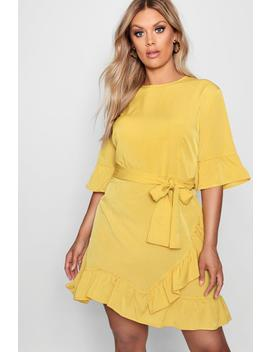 Plus Ruffle Wrap Dress by Boohoo