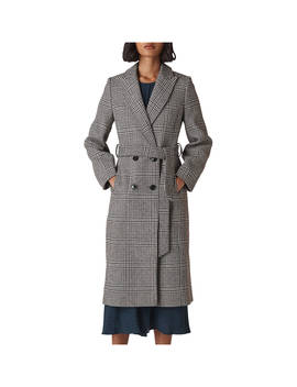 Whistles Penelope Belted Check Coat, Multi by Whistles