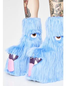 Kooky Monster Fuzzy Platforms by Current Mood