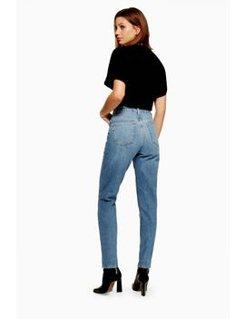Petite Bleach Vintage Mom Jeans by Topshop