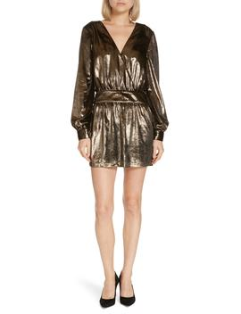 Metallic Velvet Minidress by Frame