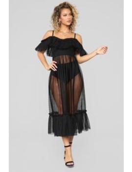 Not Meshin' With You Dress   Black by Fashion Nova