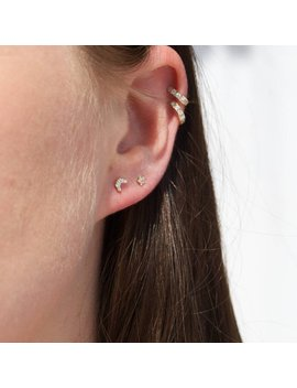 Tiny Moon Studs   Cz   Gold Stud Earrings   Tiny Studs   Zodiac   Crescent Moon   Tiny Gold Earrings   Tiny Gold Stud Earrings   I3 Sf2530 by Etsy