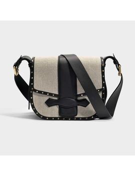 Gemma Crossbody Bag In Sable Linen by Vanessa Bruno
