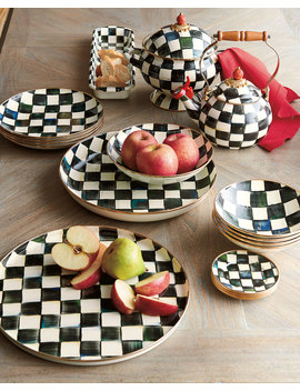 Courtly Check Enamel Abundant Bowl by Mac Kenzie Childs