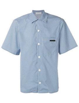 Geometric Print Bowling Shirt by Prada
