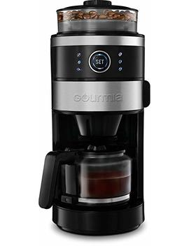 Gourmia Gcm4850 Grind And Brew Coffee Maker With Built In Burr Grinder | Adjustable Grind Size | Cup Selection Dial | Brew Strength Selection | Keep Warm Function | 6 Cup by Gourmia