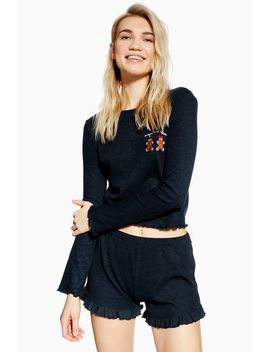 Christmas Gingerbread Pyjama Frill Set by Topshop