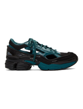Baskets Noires Et Bleues Ozweego Replicant édition Adidas Originals by Raf Simons