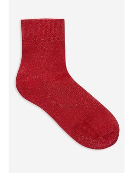 Deep Welt Glitter Socks by Topshop
