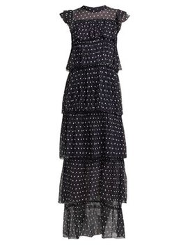 Marceau Tiered Polka Dot Silk Dress by Sir