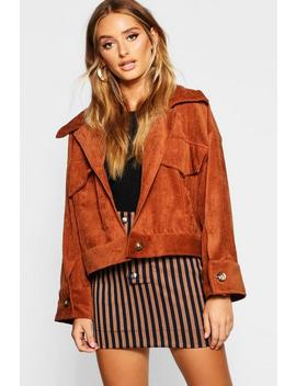 Cord Oversized Trucker Jacket by Boohoo