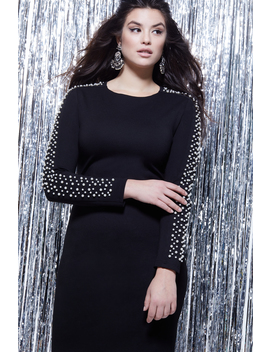 Embellished Sleeve Dress by Eloquii