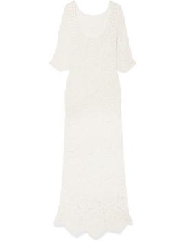 Helen Crocheted Lace Maxi Dress by Love Shack Fancy