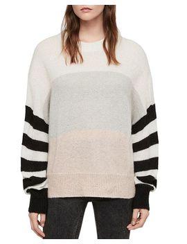 Nicoli Color Block Striped Sweater by Allsaints