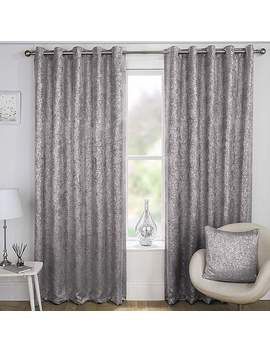 Halo Grey Thermal Curtains by Dunelm
