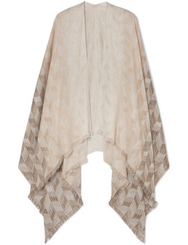 Frayed Metallic Cotton Blend Wrap by Missoni