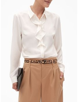 Drapey Classic Flounce Blouse by Banana Republic Factory