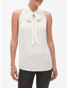 Tie Gathered Neck Top by Banana Republic Factory