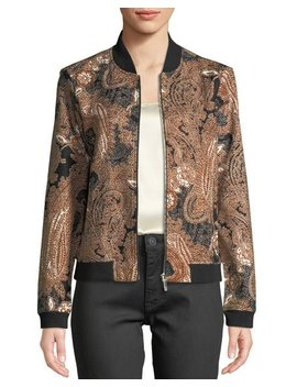 Floral & Paisley Bomber Jacket by Modern American Designer